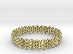 Wicker Pattern Bracelet Size 1 in 18k Gold