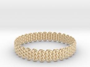 Wicker Pattern Bracelet Size 2 in 14K Yellow Gold