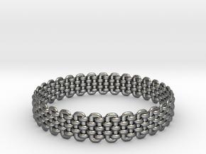 Wicker Pattern Bracelet Size 2 in Fine Detail Polished Silver