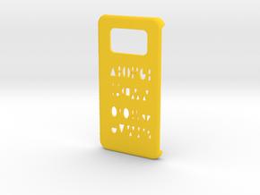 Samsung Galaxy S6 Edge Geometry case in Yellow Processed Versatile Plastic