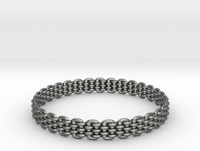 Wicker Pattern Bracelet Size 12 in Premium Silver