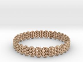 Wicker Pattern Bracelet Size 6 in 14k Rose Gold