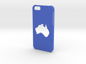Iphone 6 Australia Case in Blue Strong & Flexible Polished