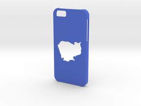 Iphone 6 Cambodia Case in Blue Strong & Flexible Polished