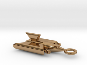 Spaceship Pendant in Polished Brass