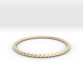 Diamond Pattern Bracelet USA Size X-Large in 14K Gold