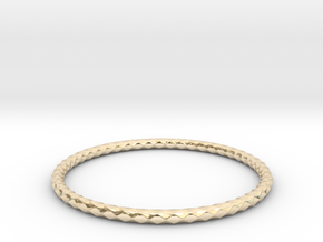 Diamond Pattern Bracelet USA Size Large in 14K Gold