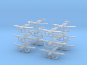 Bf109t-700-wheels-x12 in Smooth Fine Detail Plastic