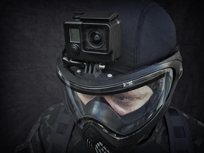 Paintball Mask Mount for GoPro Cameras in Black Strong & Flexible