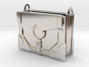 """The Traveler"" Locket (4cm, No Symbol) in Rhodium Plated Brass"