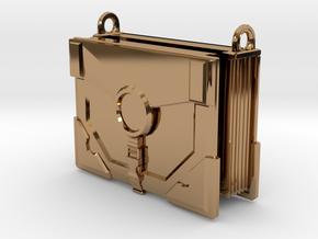 """The Traveler"" Locket (6cm, No Symbol) in Polished Brass"