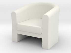 1:24 Tub Chair in White Natural Versatile Plastic