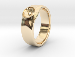Laura - Ring - US 9 - 19mm inside diameter in 14k Gold Plated Brass