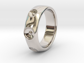 Laurane - Ring - US 9 - 19mm inside diameter in Rhodium Plated Brass