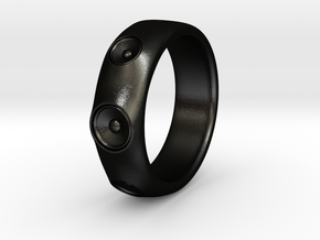 Laurane - Ring - US 9 - 19mm inside diameter in Matte Black Steel