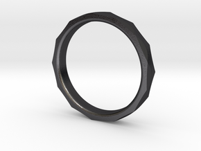 Engineers Ring Size 8.5 in Polished and Bronzed Black Steel