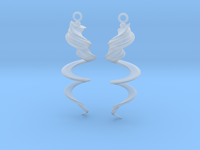 Element Earrings: Wind in Smooth Fine Detail Plastic