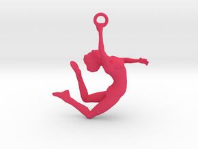 Ballerina Dancer Earing , Pendant in Pink Processed Versatile Plastic
