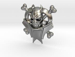 Bat Skull in Natural Silver