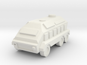 Wheeled APC 1/285 in White Strong & Flexible