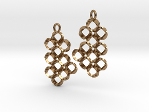 EARRINGS_Loopy Hyperloop_Pair in Raw Brass