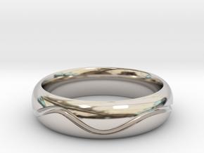 Mans Wave Wedding Band in Platinum