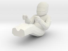 Driver F1 1/18 in White Natural Versatile Plastic