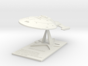 U.S.S. Voyager Desk Top Model in White Natural Versatile Plastic