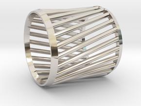 Napkin Ring Twist in Rhodium Plated Brass