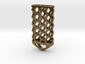Hex Lantern X4: Tritium (All Materials) in Polished Bronze