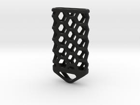 Hex Lantern X4: Tritium (All Materials) in Black Natural Versatile Plastic