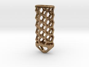 Hex Lantern X3: Tritium (All Materials) in Natural Brass