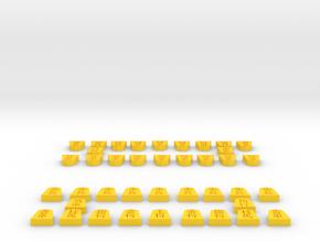 Shougi all koma in Yellow Processed Versatile Plastic