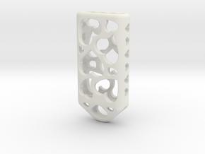 Heart Lantern X4: Tritium (All Materials) in White Natural Versatile Plastic