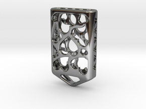 Heart Lantern X5: Tritium (All Materials) in Fine Detail Polished Silver