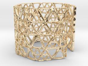 Georifer Bracelet / Cuff in 14k Gold Plated Brass