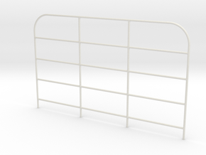 Front-gate-H100mm in White Natural Versatile Plastic