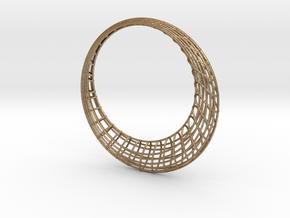 Elliptic mesh Bracelet in Matte Gold Steel