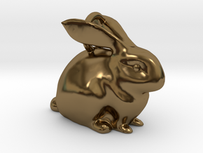 Bunny Pendant  in Polished Bronze