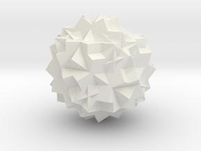 13 Cube Compound, Solid in White Natural Versatile Plastic