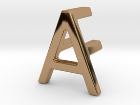 AF FA - Two way letter pendant in Polished Brass