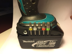 Makita Bit Holder in Black Natural Versatile Plastic