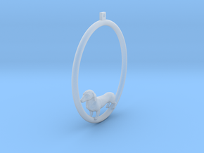Dachshund Hoop Earring in Frosted Ultra Detail