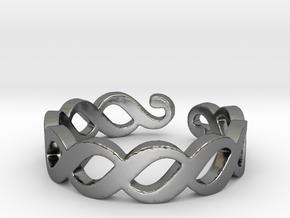 Section sign (Pykälä merkki) Ring Size 7 in Fine Detail Polished Silver