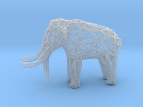 Elephant Wireframe 50mm in Smooth Fine Detail Plastic