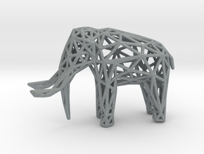 Elephant Wireframe 50mm in Polished Metallic Plastic