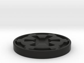 Imperial Coaster in Black Natural Versatile Plastic