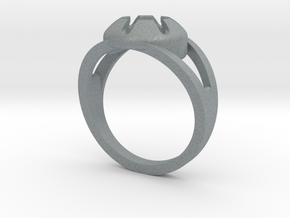 Matrix Ring in Polished Metallic Plastic