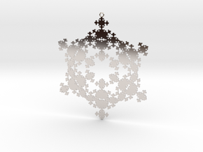 Fractal Snowflake 1 - LP in Rhodium Plated Brass