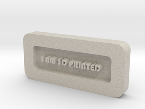 Paper Weight - I AM 3D PRINTED  in Natural Sandstone